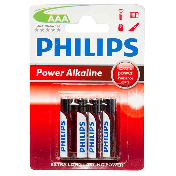 BATTERY LR03 AAA (4 PACK) POWERLIFE ALKALINE